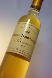 vin blanc aoc sauternes château haut-monteils